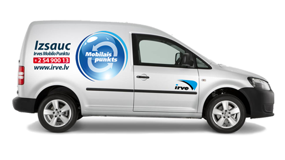 Call for Irve's mobile point courier free of charge